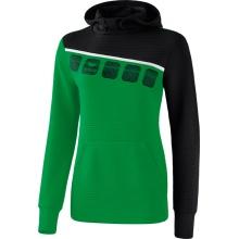 Erima Hoodie 5-C 2019 smaragd/schwarz/weiß Damen