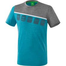 Erima Tshirt 5-C 2019 blau/grau/weiss Herren