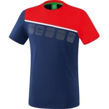 Erima Tshirt 5-C 2019 navy/rot/weiss Herren