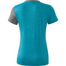 Erima Shirt 5-C 2019 blau/grau melange/weiß Damen