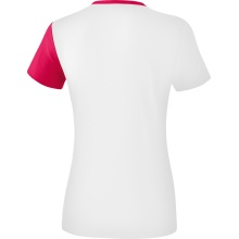 Erima Shirt 5-C 2019 weiß/rosa/peach Damen