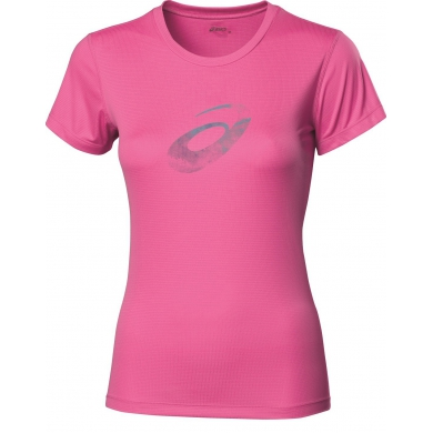 Asics Shirt Graphic NEW pink Damen (Größe L+XL)