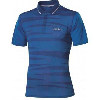 Asics Polo Stripe blau Herren