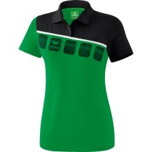 Erima Polo 5-C 2019 smaragd/schwarz/weiß Damen