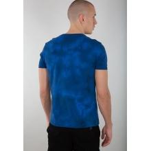 Alpha Industries Tshirt Basic (Baumwolle) Batik blau Herren