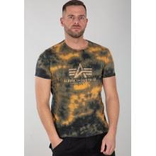 Alpha Industries Tshirt Basic (Baumwolle) Batik braun Herren