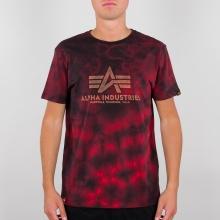 Alpha Industries Tshirt Basic (Baumwolle) Batik rot Herren