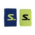 Salming Schweissband Short gelb/blau 2er