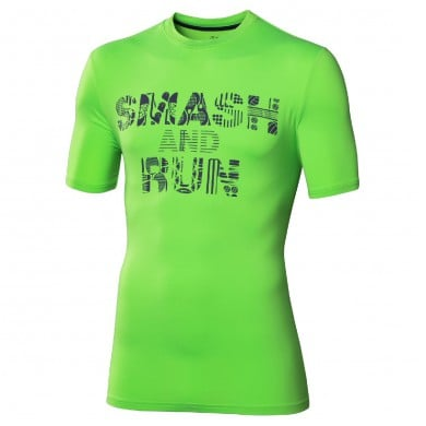 Asics Tshirt Smash and Run grün Herren