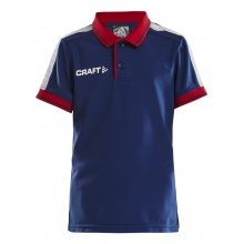 Craft Polo Pro Control navy/rot Boys
