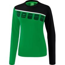Erima Langarmshirt 5-C 2019 smaragd/schwarz/weiß Damen
