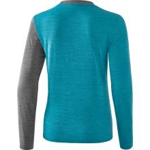 Erima Langarmshirt 5-C 2019 blau/grau melange/weiß Damen