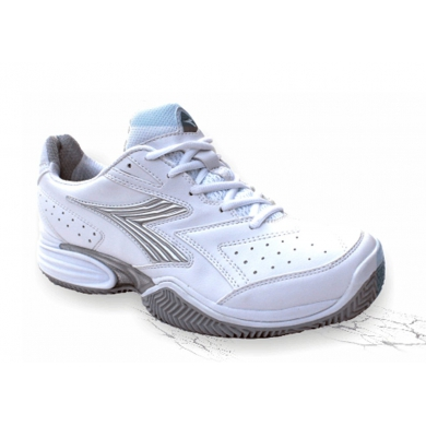 Diadora Speed Shot Clay weiss/blau Tennisschuhe Damen