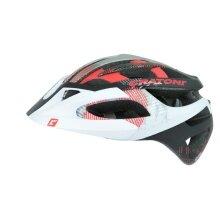 Cratoni Fahrradhelm C-Hawk weiss/schwarz/rot