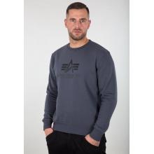 Alpha Industries Pullover Basic (Baumwolle) Sweater grau/schwarz Herren