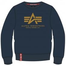 Alpha Industries Pullover Basic (Baumwolle) Sweater newnavy/gelb Herren