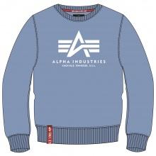 Alpha Industries Pullover Basic (Baumwolle) Sweater hellblau Herren