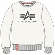 Alpha Industries Pullover Basic (Baumwolle) Sweater jet stream weiss Herren