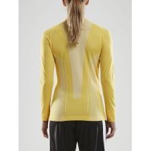 Craft Langarmshirt Pro Control Seamless (nahtlos) Unterwäsche gelb Damen