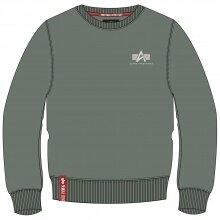 Alpha Industries Pullover Basic (Baumwolle) Small Logo vintagegrün Herren