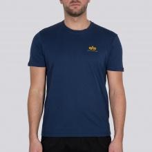 Alpha Industries Tshirt Basic T Small Logo (Baumwolle) new navy Herren