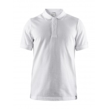 Craft Polo Casual Pique weiss Herren