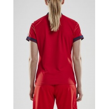Craft Polo Pro Control rot/navy Damen