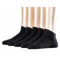 Esprit Socks Sneaker Uni schwarz 5er Damen