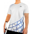 Dunlop Tshirt Performance 2012 weiss/blau Herren (Größe S+L)