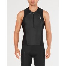 2XU Triathlon Kompression Singlet 1/2 Zip 2018 schwarz Herren
