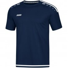 JAKO Tshirt Striker 2.0 KA 2019 dunkelblau/weiss Herren