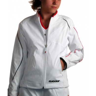 Babolat Jacket Club New weiss Girls