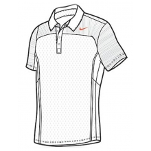 Nike Polo All Court weiss Herren