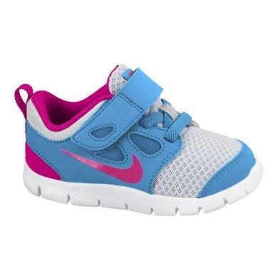 Nike Free 5 Klett blau Laufschuhe Girls