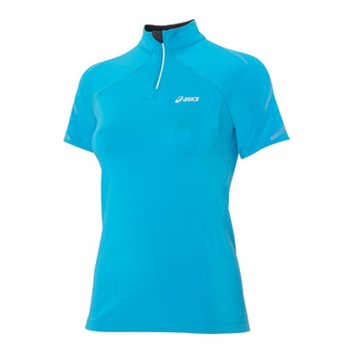 Asics Laufshirt Half-Zip L2 blau Damen