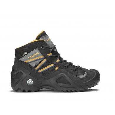 Lowa Simon GTX QC anthrazit/orange Outdoorschuhe Kinder (Größe 40)