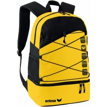 Erima Rucksack Club 5 (mit Bodelfach) gelb/schwarz