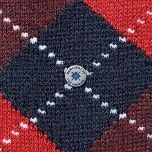 Burlington Tagessocke Preston dunkelblau/rot Herren 1er