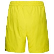 Head Tennishose Short Club 2021 gelb Herren