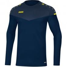 JAKO Langarmshirt Sweat Champ 2.0 marine/blau/gelb Boys/Girls