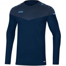 JAKO Langarmshirt Sweat Champ 2.0 marine/blau/hellblau Herren