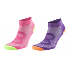 EightSox Color 2 Sneaker pink/purple Damen 2er
