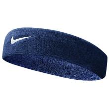 Nike Stirnband Swoosh (70% Baumwolle) obsidian - 1 Stück