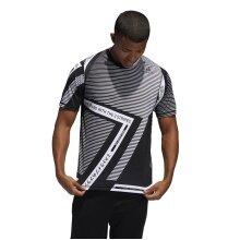 adidas Tennis-Tshirt 3 Stripes schwarz Herren
