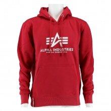 Alpha Industries Kapuzenpullover (Hoodie) Basic Logo weinrot Herren