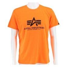 Alpha Industries Tshirt Basic neonorange Herren