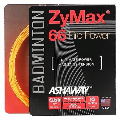 Ashaway Zymax 66 Fire Power orange Badmintonsaite