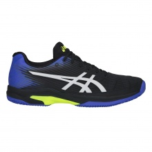 Asics Solution Speed FF Clay schwarz/blau/gelb Sandplatz-Tennisschuhe Herren