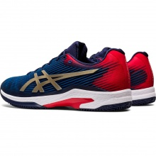 Asics Solution Speed FF Clay blau/rot Tennisschuhe Herren