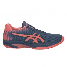 Asics Solution Speed FF Clay navy/koralle Tennisschuhe Damen